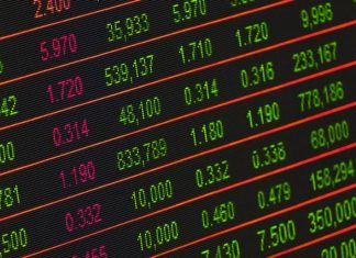 stock exchange market board