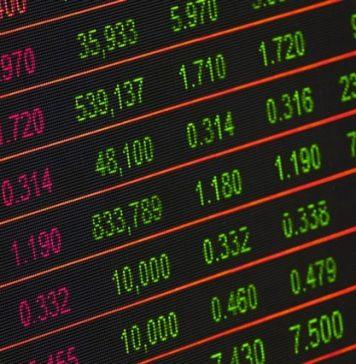 stock exchange market board