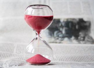 Hour Glass Red Sand