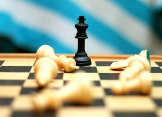 Chess play with a king winning