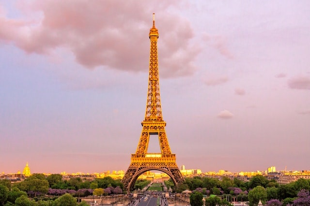 Eiffel Tower on a Pink Sky