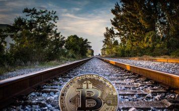 Bitcoin on a railway