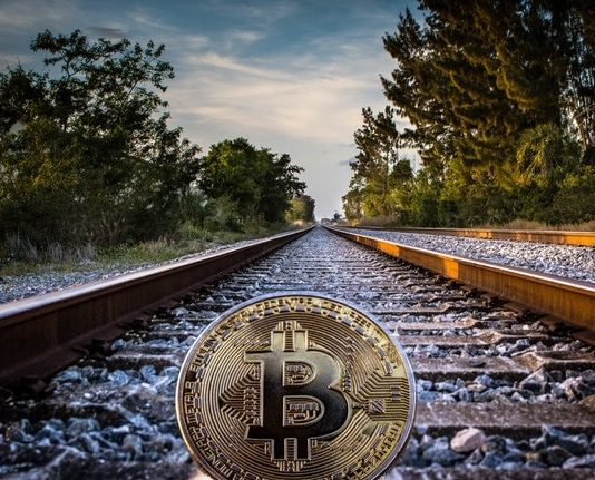 Bitcoin on a railway